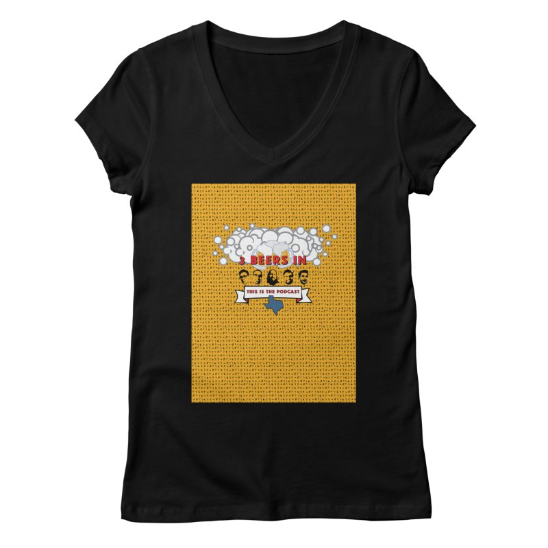 f1ab1e Women's V-Neck by 3 Beers In's Artist Shop