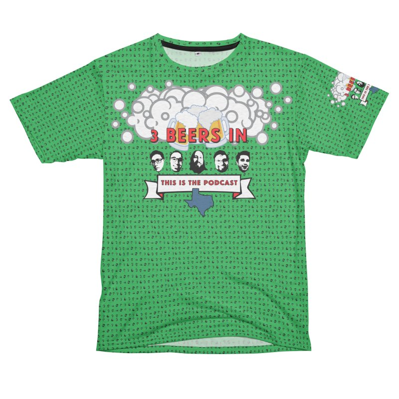 Green All Over Men's French Terry T-Shirt Cut & Sew by 3 Beers In's Artist Shop