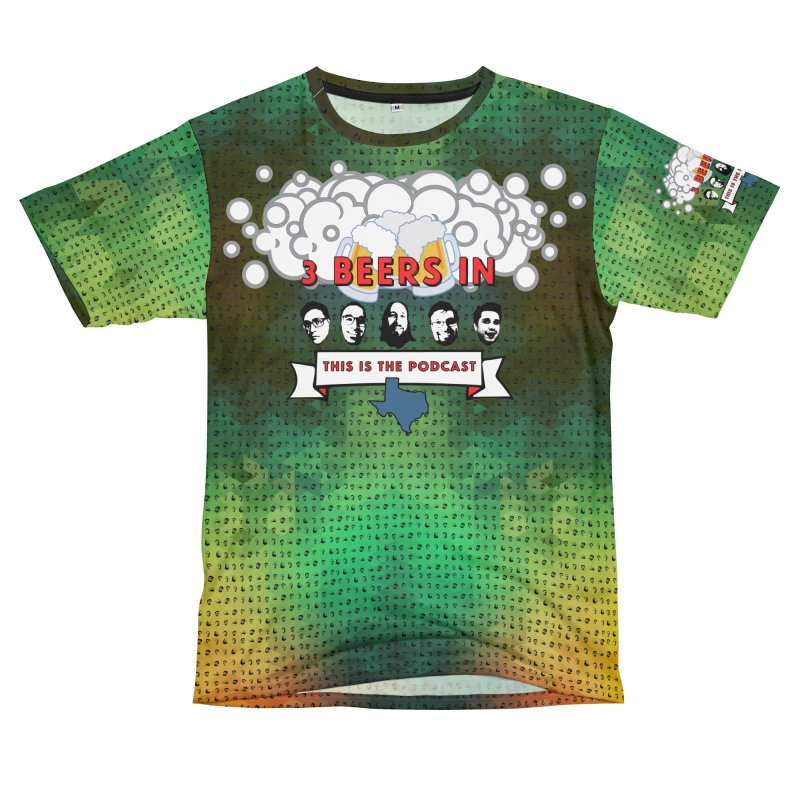 Green Geometry Men's T-Shirt Cut & Sew by 3 Beers In's Artist Shop