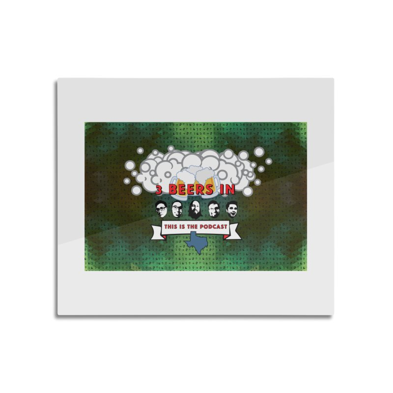 Green Tapestry Home Mounted Aluminum Print by 3 Beers In's Artist Shop