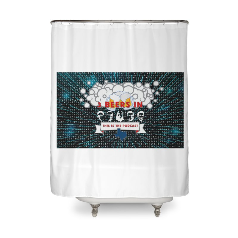 Hyperspace Home Home Shower Curtain by 3 Beers In's Artist Shop