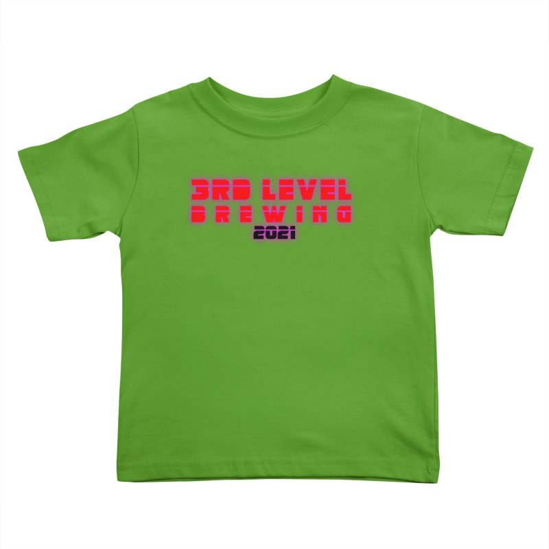 3rd Level Dystopian Future Kids Toddler T-Shirt by 3 Beers In's Artist Shop