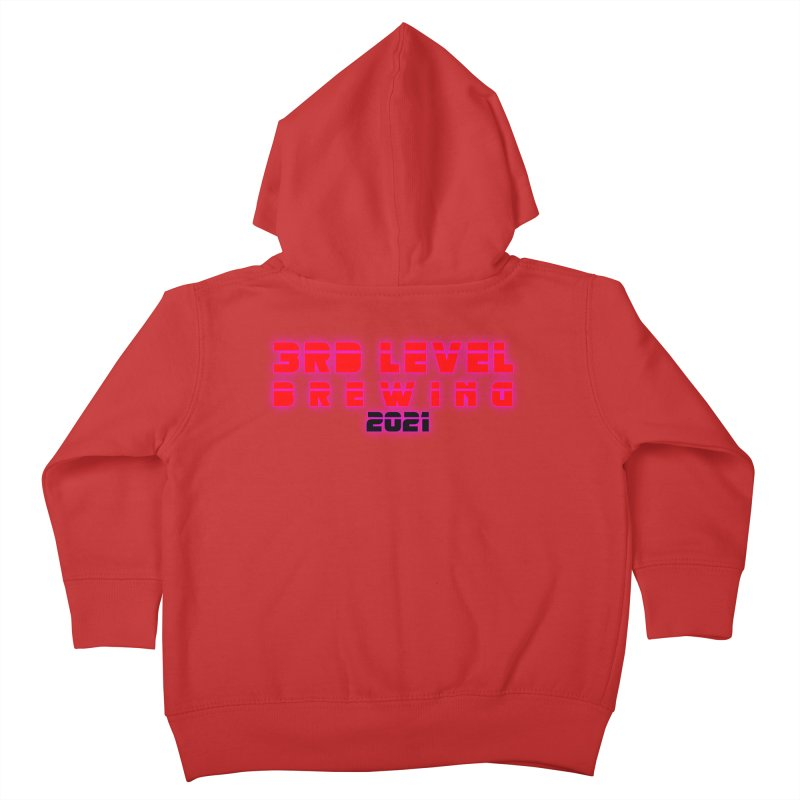 3rd Level Dystopian Future Kids Toddler Zip-Up Hoody by 3 Beers In's Artist Shop