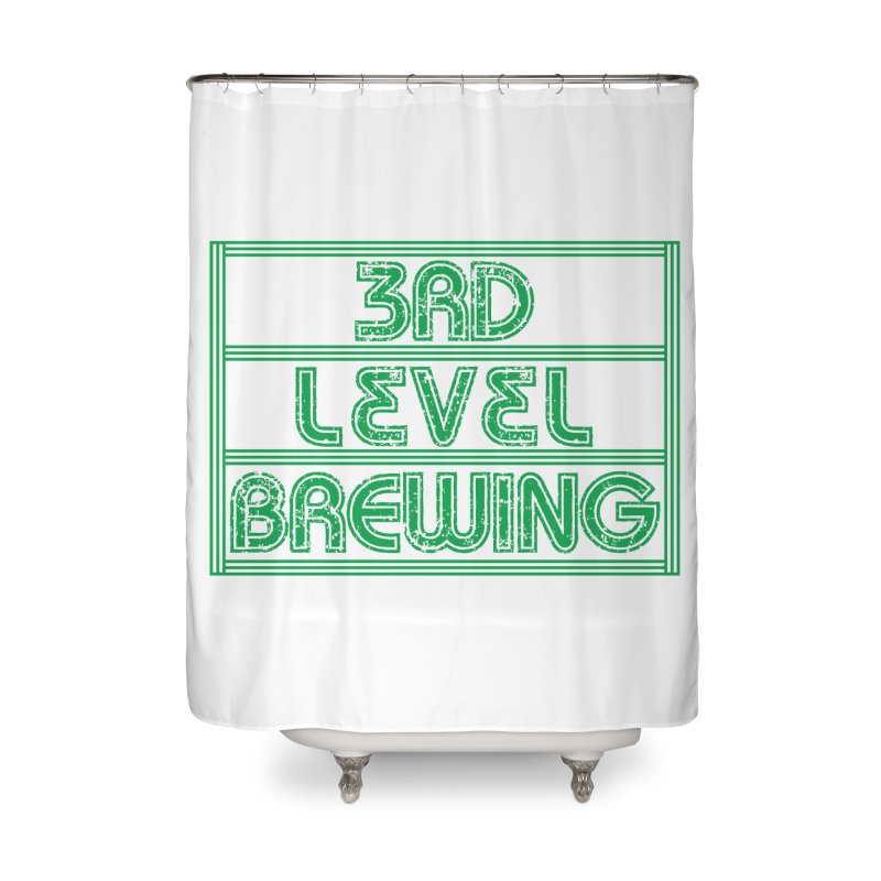 3rd Level Home Shower Curtain by 3 Beers In's Artist Shop