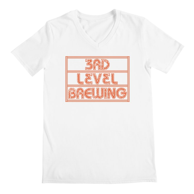 Orange Logo Men's V-Neck by 3 Beers In's Artist Shop