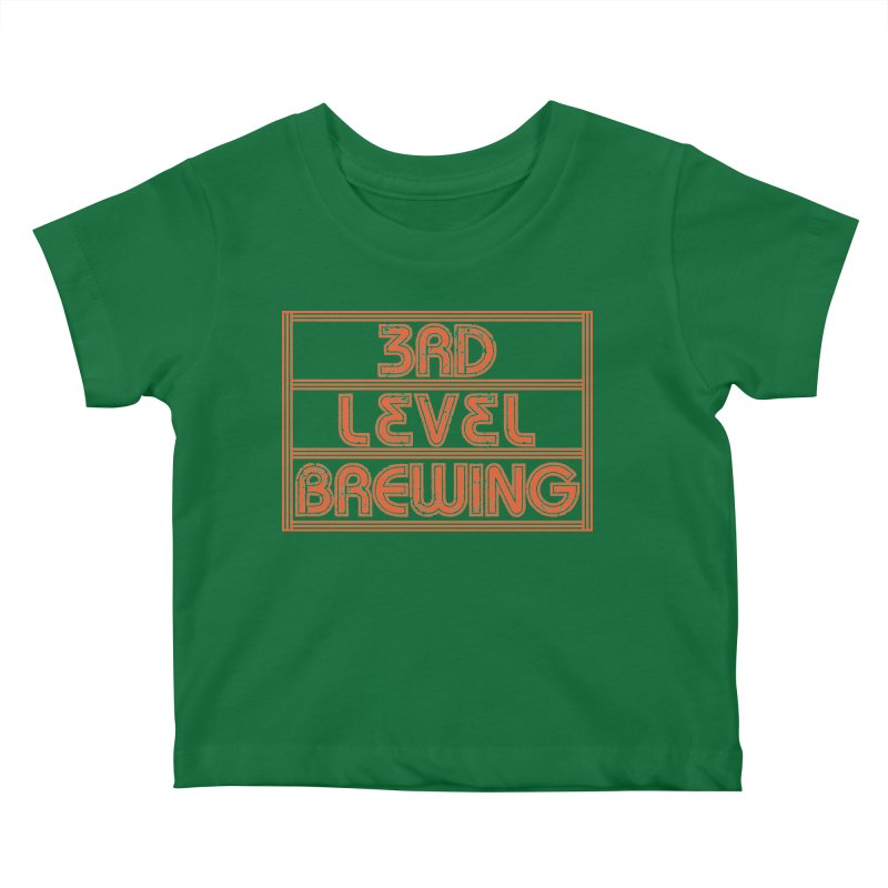 Orange Logo Kids Baby T-Shirt by 3 Beers In's Artist Shop