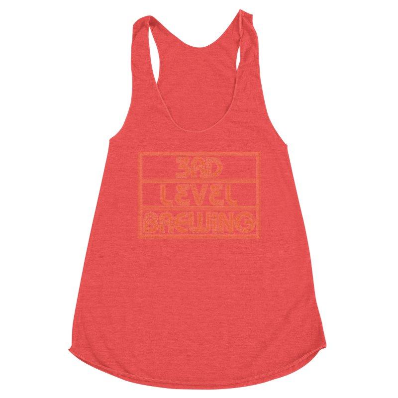Orange Logo Women's Tank by 3 Beers In's Artist Shop