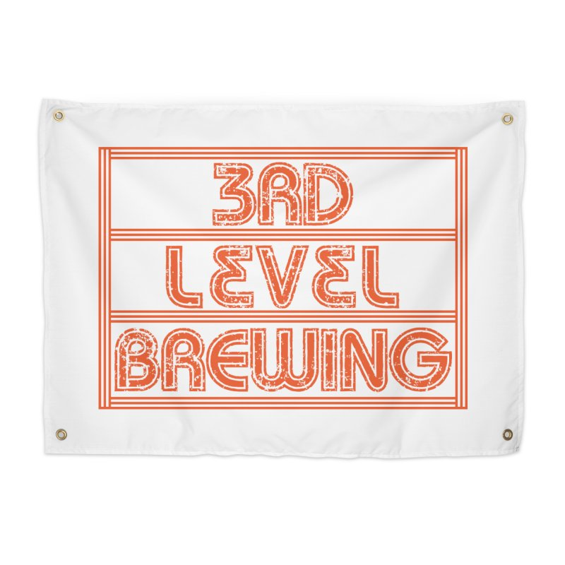 Orange Logo Home Tapestry by 3 Beers In's Artist Shop