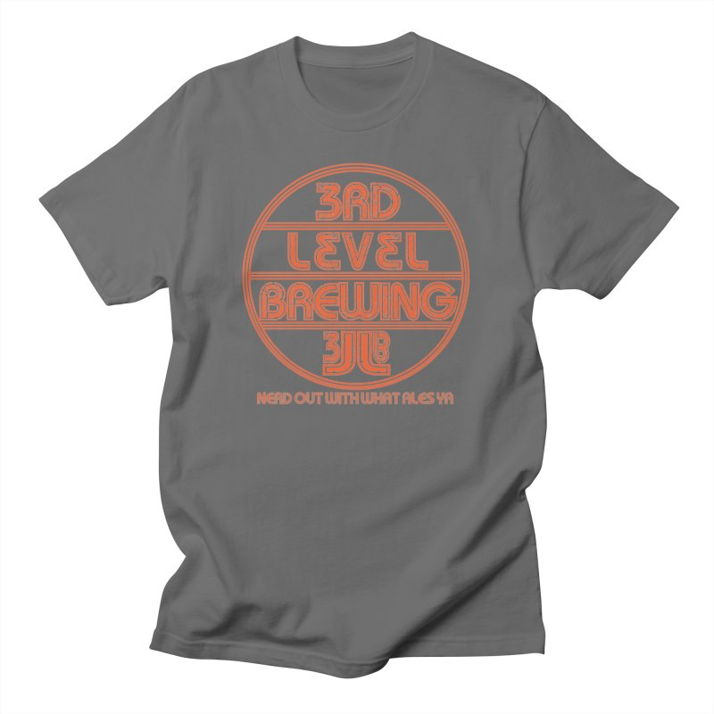 Orange Circle Men's T-Shirt by 3 Beers In's Artist Shop