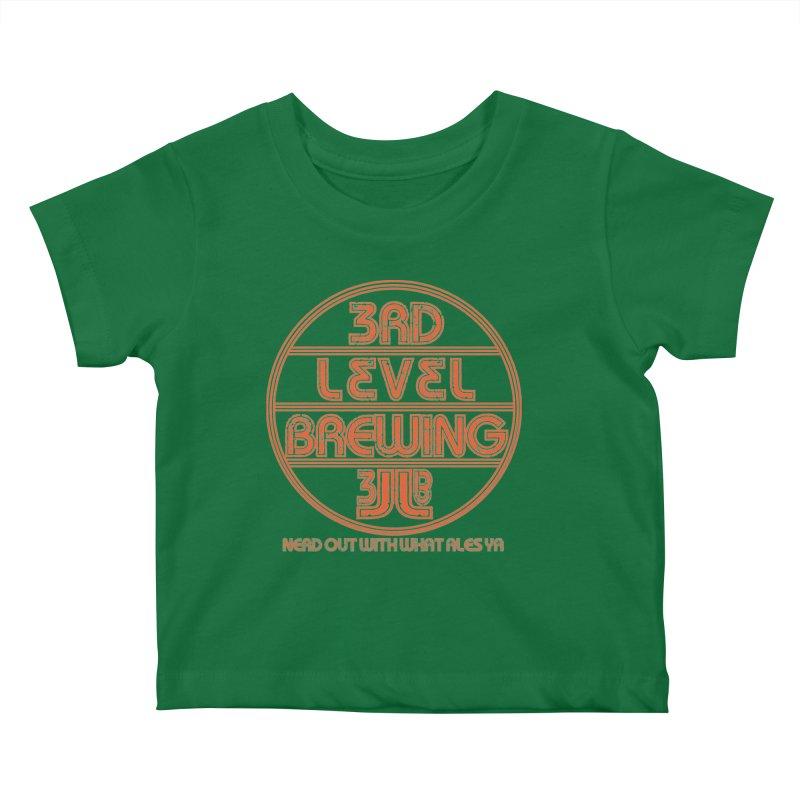 Orange Circle Kids Baby T-Shirt by 3 Beers In's Artist Shop
