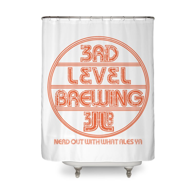 Orange Circle Home Shower Curtain by 3 Beers In's Artist Shop
