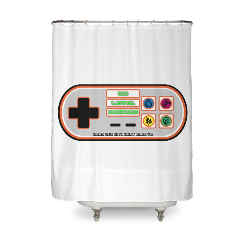 3rd Level Controller Home Shower Curtain by 3 Beers In's Artist Shop
