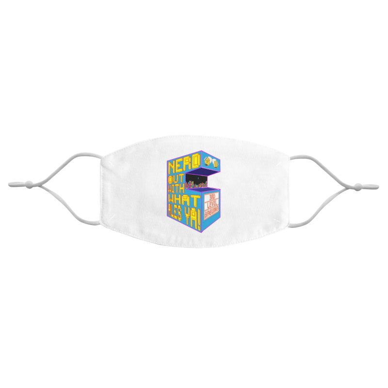 Arcade Classic Accessories Face Mask by 3 Beers In's Artist Shop