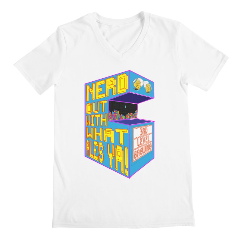 Arcade Classic Men's V-Neck by 3 Beers In's Artist Shop