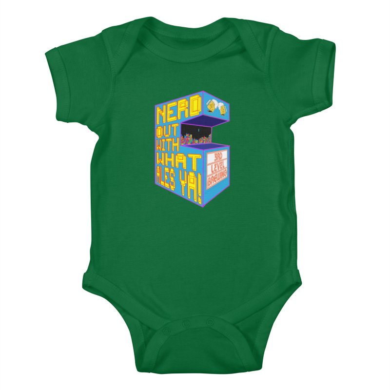 Arcade Classic Kids Baby Bodysuit by 3 Beers In's Artist Shop