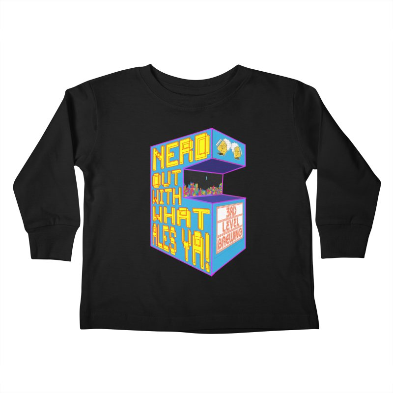 Arcade Classic Kids Toddler Longsleeve T-Shirt by 3 Beers In's Artist Shop