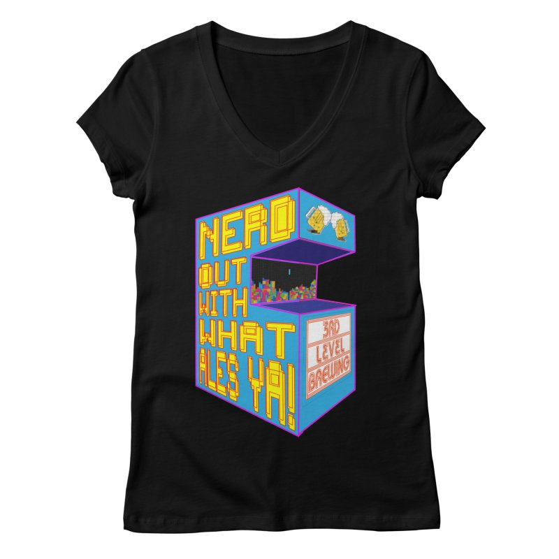 Arcade Classic Women's V-Neck by 3 Beers In's Artist Shop