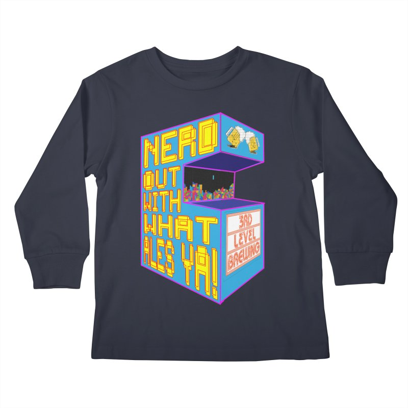 Arcade Classic Kids Longsleeve T-Shirt by 3 Beers In's Artist Shop