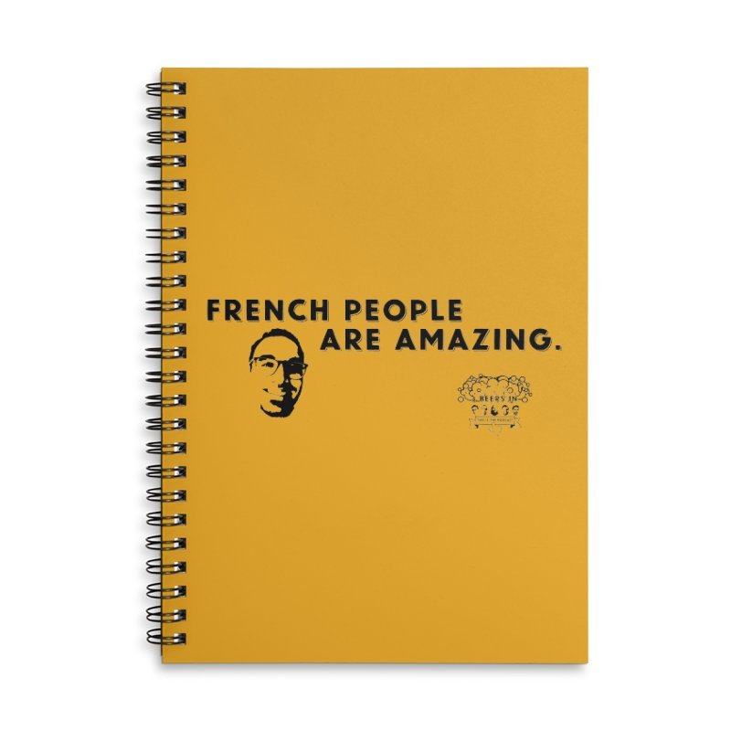 French People Accessories Lined Spiral Notebook by 3 Beers In's Artist Shop