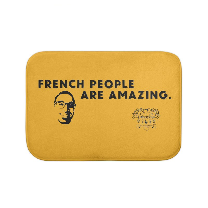 French People Home Bath Mat by 3 Beers In's Artist Shop