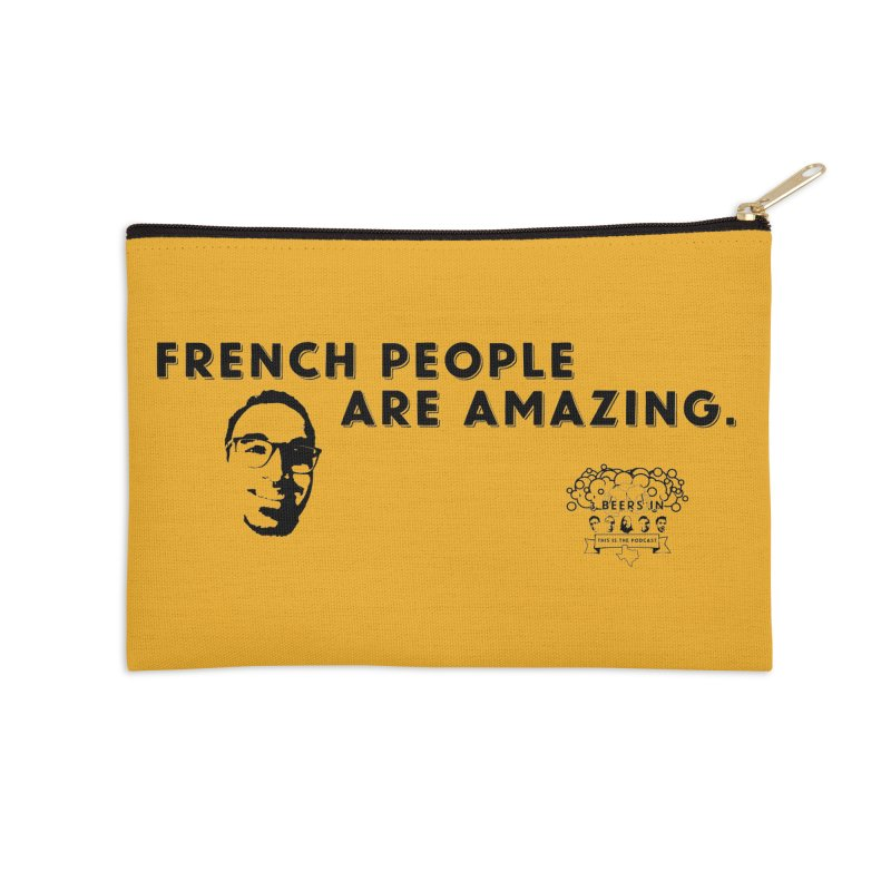 French People Accessories Zip Pouch by 3 Beers In's Artist Shop