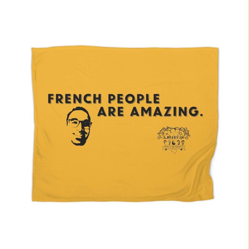 French People Home Fleece Blanket Blanket by 3 Beers In's Artist Shop