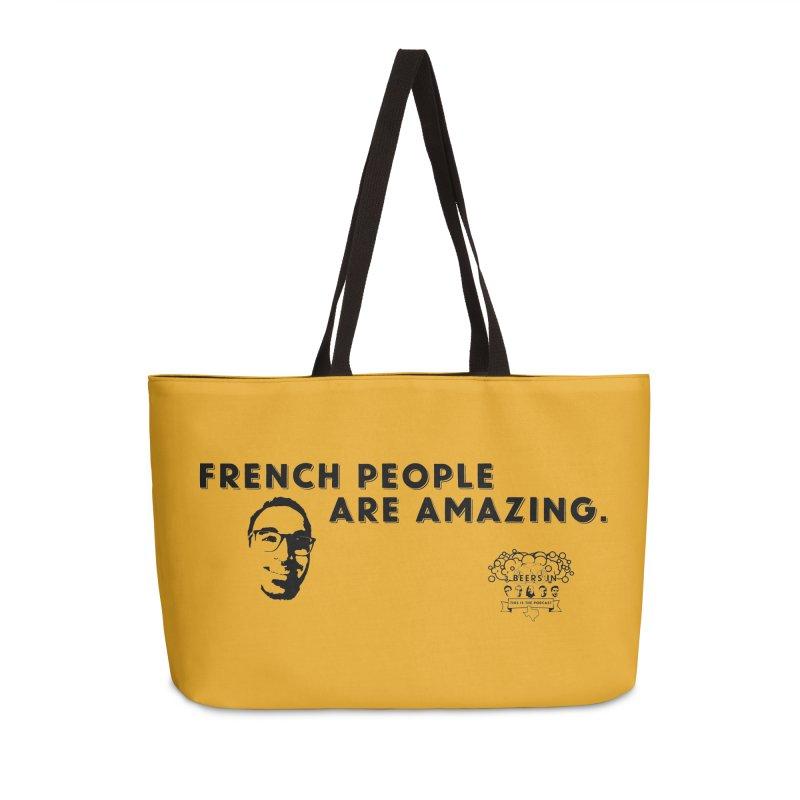 French People Accessories Weekender Bag Bag by 3 Beers In's Artist Shop