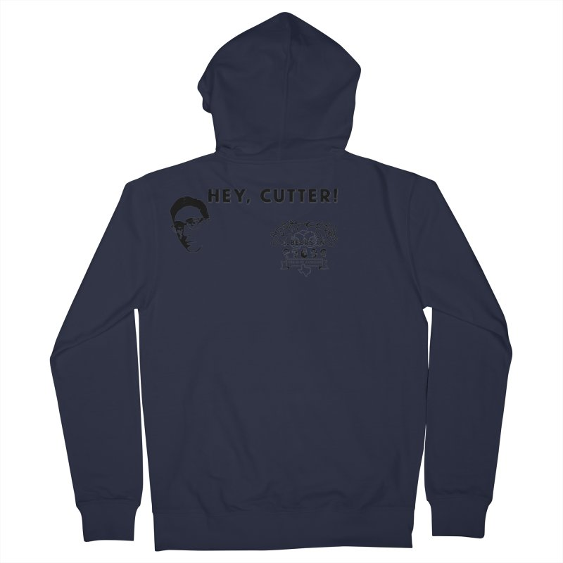 Hey, Cutter Men's French Terry Zip-Up Hoody by 3 Beers In's Artist Shop