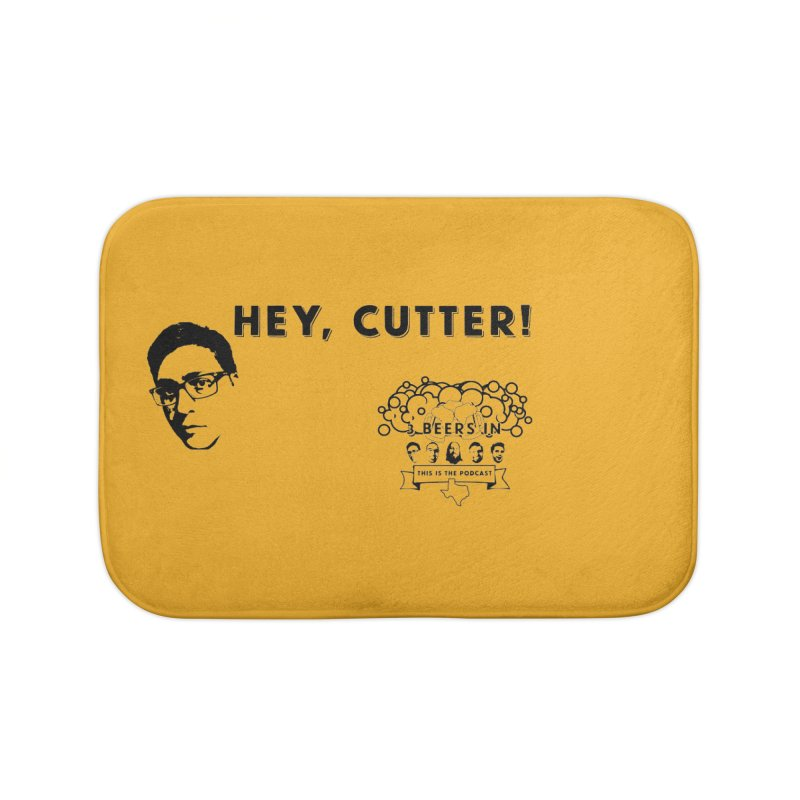 Hey, Cutter Home Bath Mat by 3 Beers In's Artist Shop