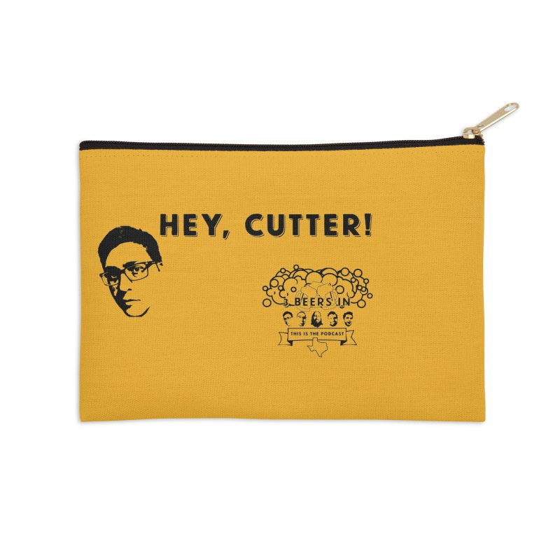 Hey, Cutter Accessories Zip Pouch by 3 Beers In's Artist Shop