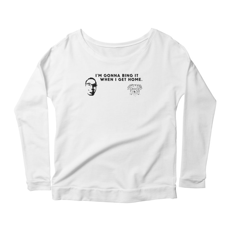 Bing! Women's Scoop Neck Longsleeve T-Shirt by 3 Beers In's Artist Shop