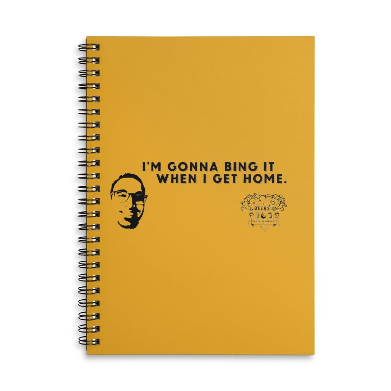 Bing! Accessories Lined Spiral Notebook by 3 Beers In's Artist Shop