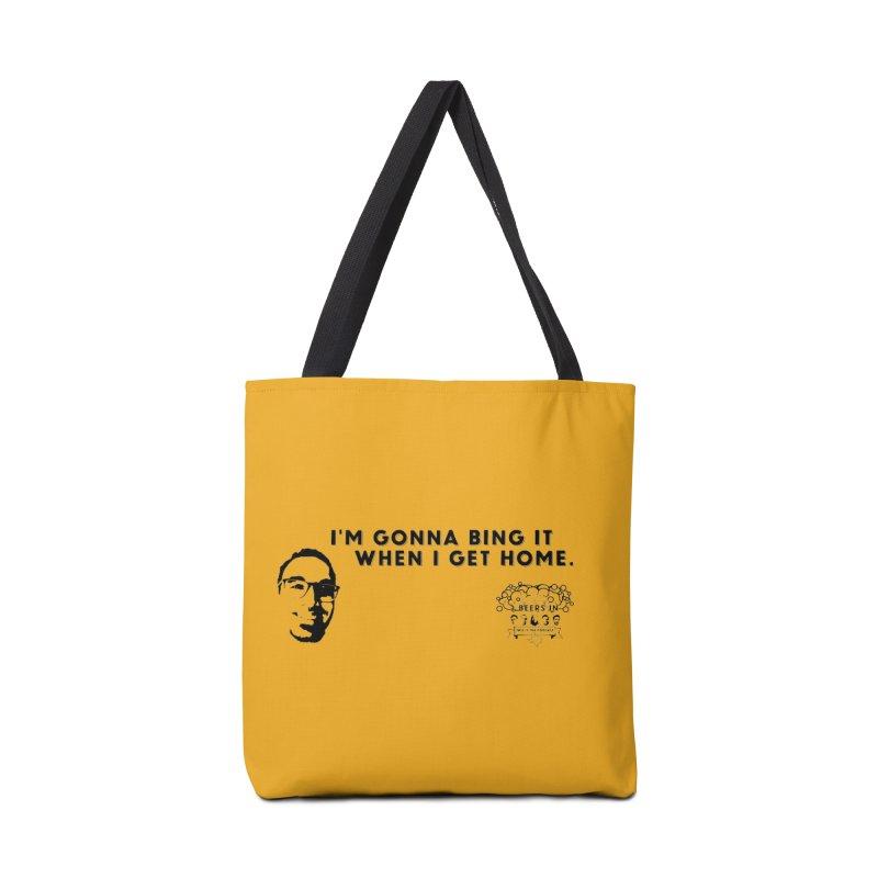 Bing! Accessories Tote Bag Bag by 3 Beers In's Artist Shop