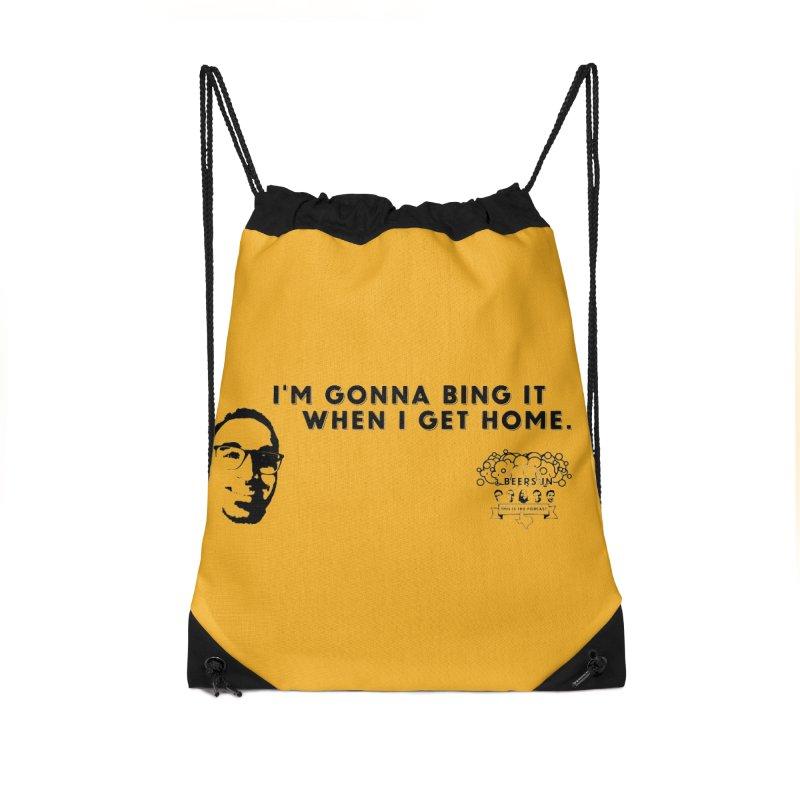 Bing! Accessories Drawstring Bag Bag by 3 Beers In's Artist Shop