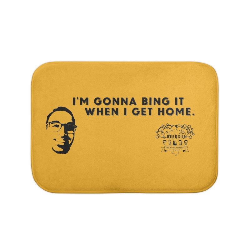 Bing! Home Bath Mat by 3 Beers In's Artist Shop