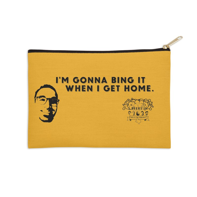 Bing! Accessories Zip Pouch by 3 Beers In's Artist Shop