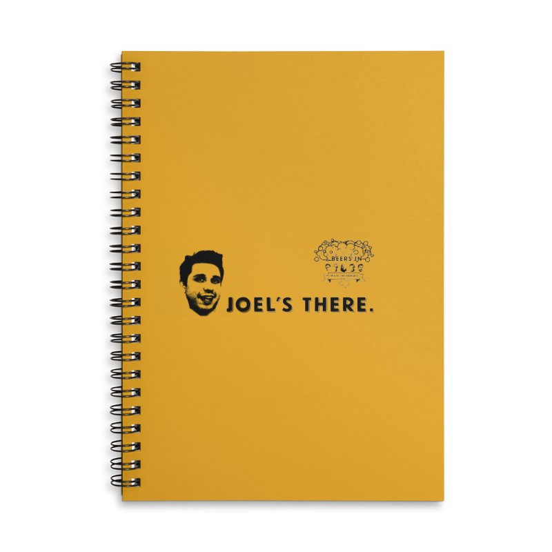 Joel's There Accessories Lined Spiral Notebook by 3 Beers In's Artist Shop