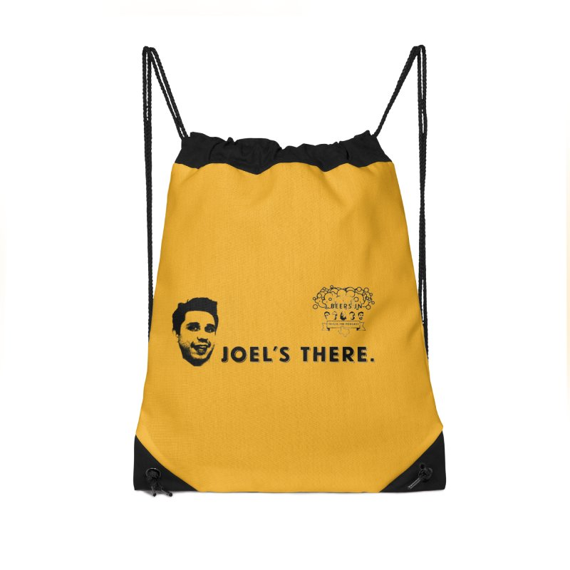 Joel's There Accessories Drawstring Bag Bag by 3 Beers In's Artist Shop