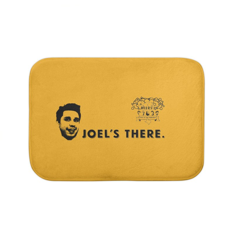 Joel's There Home Bath Mat by 3 Beers In's Artist Shop