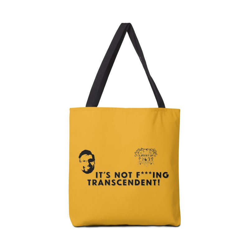Not Transcendent Accessories Tote Bag Bag by 3 Beers In's Artist Shop