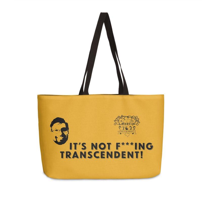 Not Transcendent Accessories Weekender Bag Bag by 3 Beers In's Artist Shop