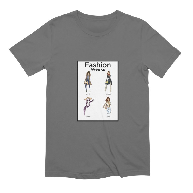 Fashion Weeks (with border) Men's T-Shirt by 3Cstyle's Artist Shop