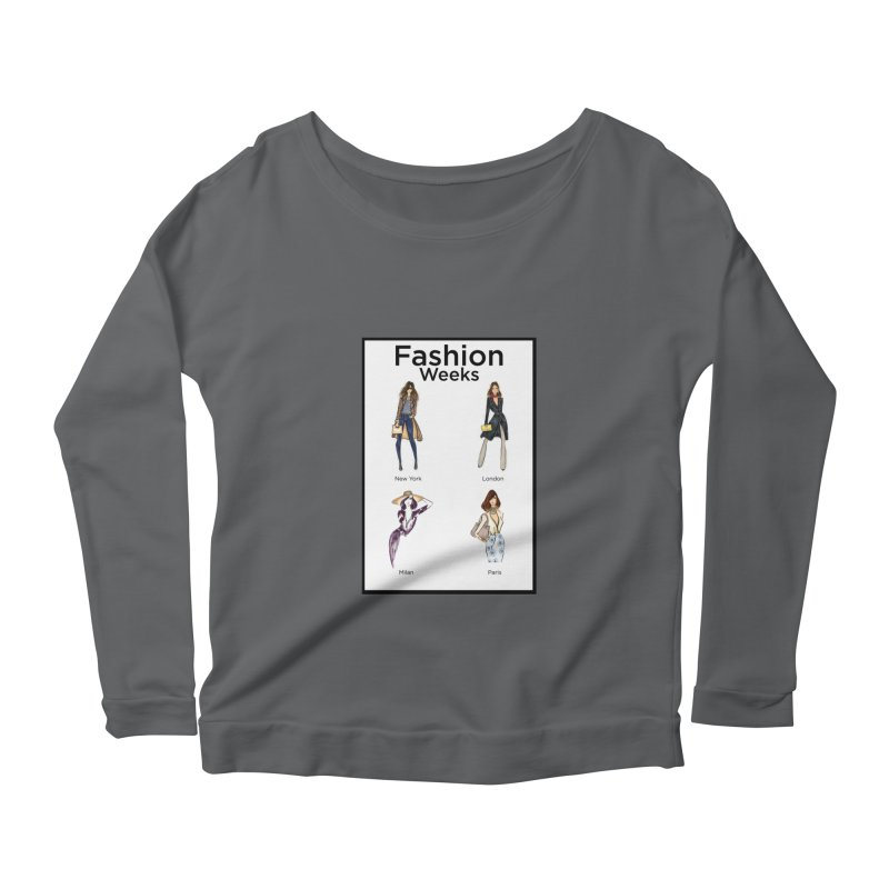 Fashion Weeks (with border) Women's Longsleeve T-Shirt by 3Cstyle's Artist Shop