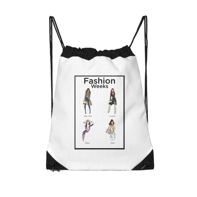 Fashion Weeks (with border) Accessories Bag by 3Cstyle's Artist Shop