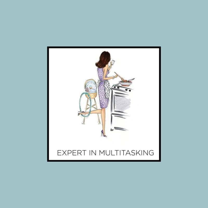 Expert in Multitasking (with border) Accessories Mug by 3Cstyle's Artist Shop