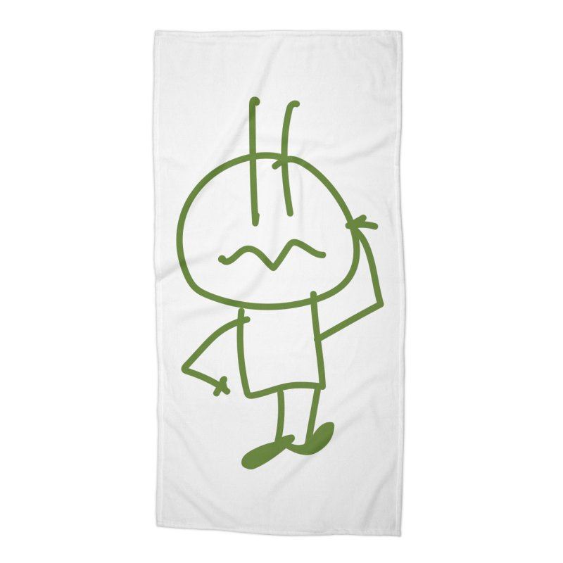 Confused Spiky Accessories Beach Towel by 3R Teacher Training's Shop