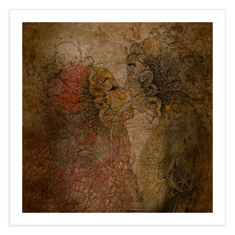 Kiss Home Fine Art Print by 3abylon