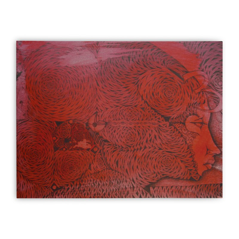 Red Home Stretched Canvas by 3abylon