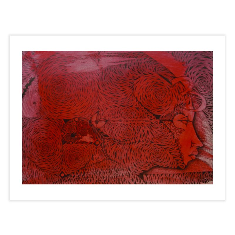 Red Home Fine Art Print by 3abylon