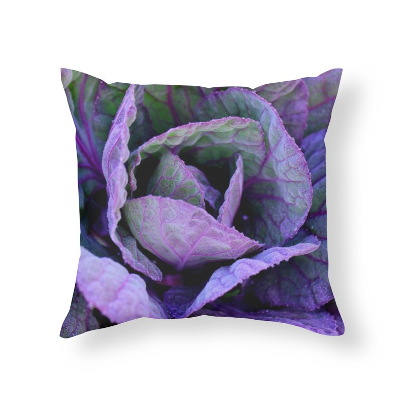 Purple Frost Home Throw Pillow by 3boysenberries